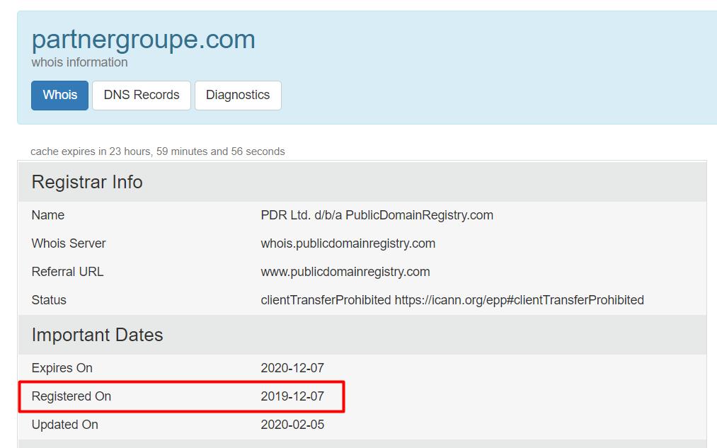 Partner Groupe домен partnergroupe.com